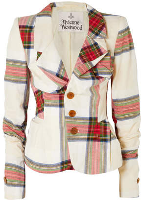Vivienne Westwood Tartan Cotton Blazer - Off-white