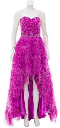 Jovani Feather Accented Evening Dress w/ Tags