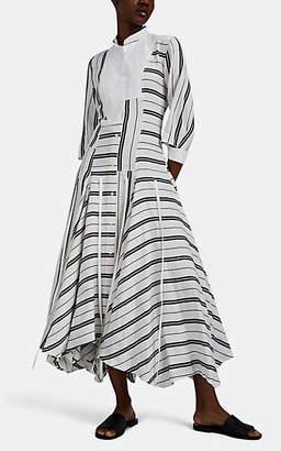 Loewe Women's Striped Linen-Cotton Handkerchief Shirtdress - White