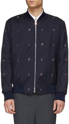 Paul Smith Musical note embroidered wool bomber jacket