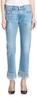 3x1 Straight-Leg Fringe Jeans