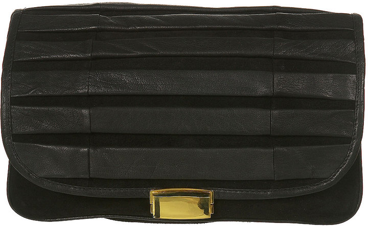 Leather and Suede Clutch Bag