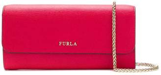 Furla chain flap wallet
