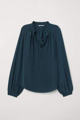 H&M Silk Blouse - Turquoise