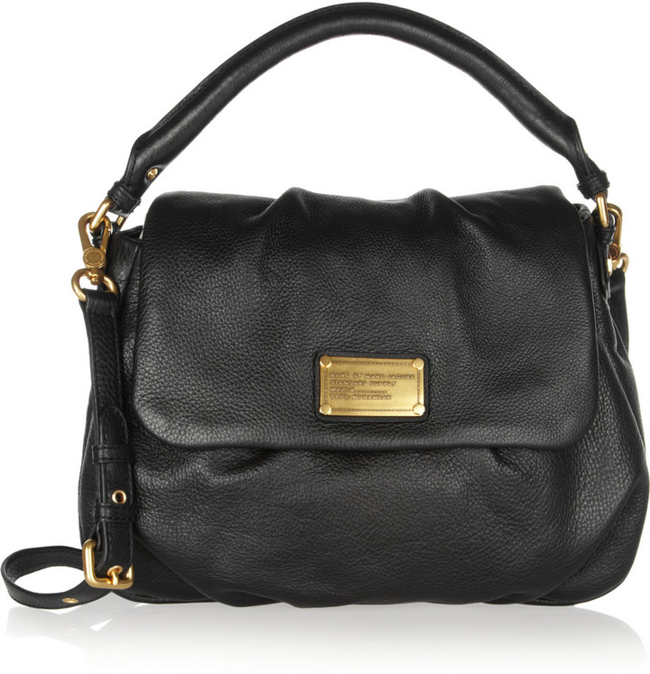 Marc by Marc Jacobs Classic Q Lil Ukita Textured-Leather Shoulder Bag