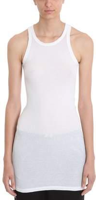 Drkshdw Rib Tank White Cotton Topwear