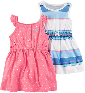 Carter's Sleeveless Flutter Sleeve Dress Set - Baby Girls