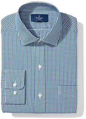 Buttoned Down Men's Classic Fit Gingham & Stripe Non-Iron Dress Shirt