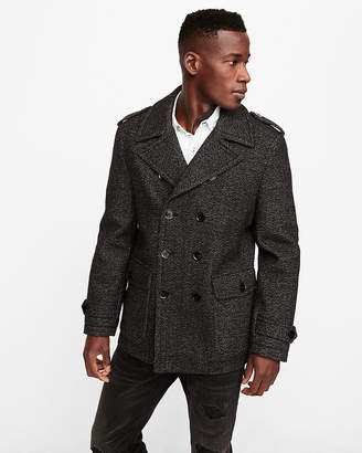 Express Grey Recycled Wool Water-Resistant Peacoat