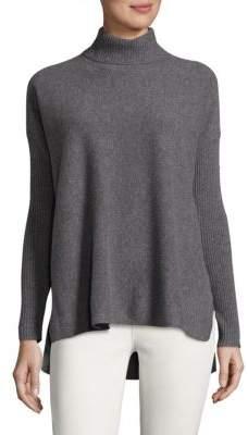 Saks Fifth Avenue Felted Turtleneck Rib Sweater