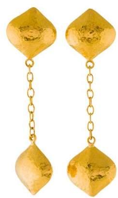 Gurhan 24K Clove Double Long Puff Drop Earrings