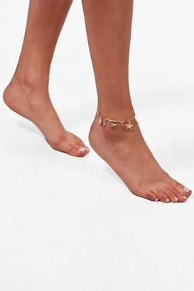 boohoo Star & Diamante Anklet