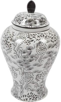 Lexington Home Black Eastern Ceramic Temple Jar