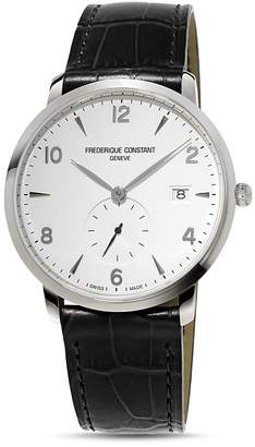 Frederique Constant Classics Watch with Leather Strap, 38.5mm