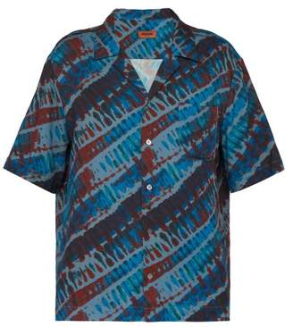 Missoni Tie Dye Print Shirt - Mens - Blue
