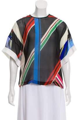 Preen by Thornton Bregazzi Silk Short Sleeve Top