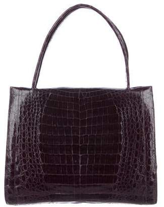 Nancy Gonzalez Crocodile Top-Handle Bag