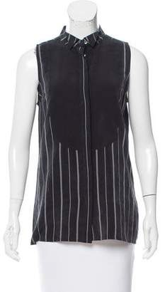 Equipment Silk Sleeveless Button-Up