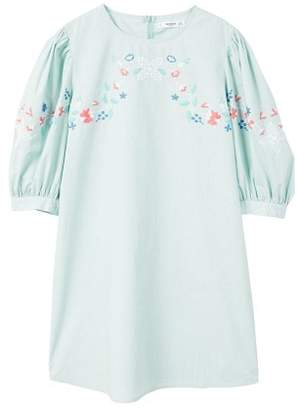MANGO Floral embroidery dress