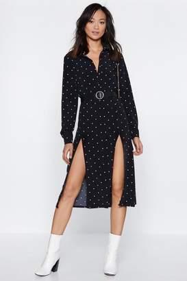 Nasty Gal Extra Leg Room Polka Dot Dress