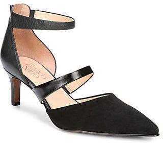 Franco Sarto Davey Leather Suede Ankle Strap Pumps
