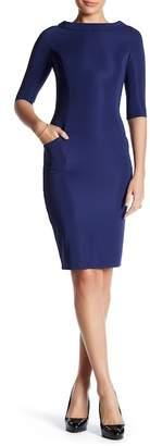 LAURA BETTINI Elbow Sleeve Sheath Dress