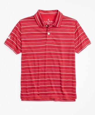 Brooks Brothers Boys Performance Stripe Polo Shirt