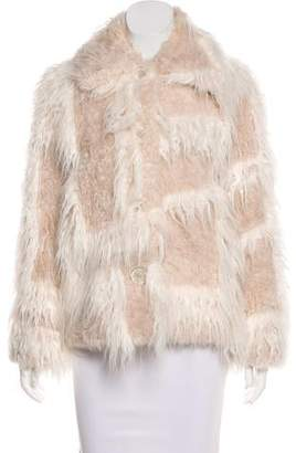 Helmut Lang Faux Fur Button-Up Jacket