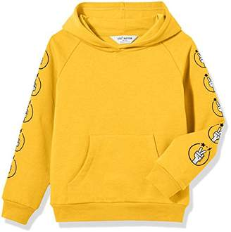 Kid Nation Kids' Solid Fleece Hooded Pullover Sweatshirt for Boys Girls XS