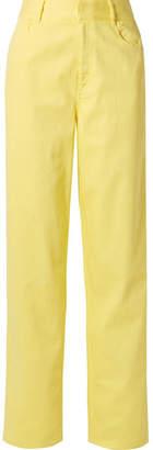 Tibi High-rise Straight-leg Jeans - Bright yellow