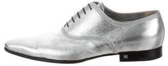 Louis Vuitton Metallic Pointed-Toe Oxfords