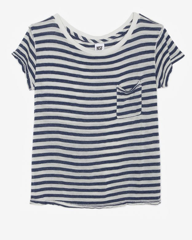 NSF Striped Knit Pocket Tee