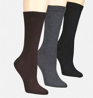 Avenue Solid Flat Knit Socks 3-Pack