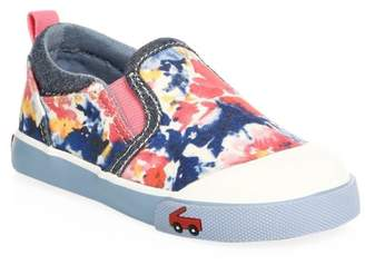 See Kai Run Toddler's & Little Girl's Watercolor Slip-On Sneakers