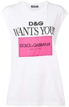 Dolce & Gabbana logo print sleeveless top
