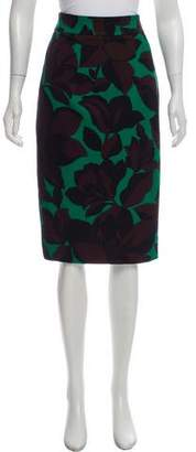 Milly Floral Print Knee-Length Skirt