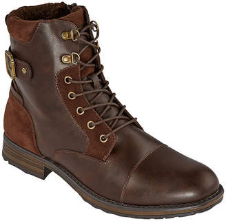 COLLECTION Collection by Michael Strahan Mens Trevor Flat Heel Lace Up Boots