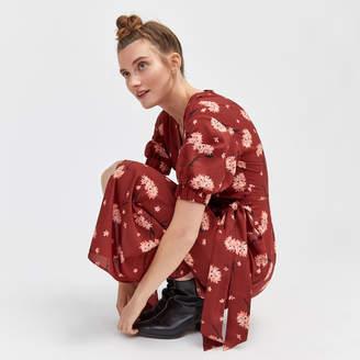 Warehouse Honey Floral Wrap Dress