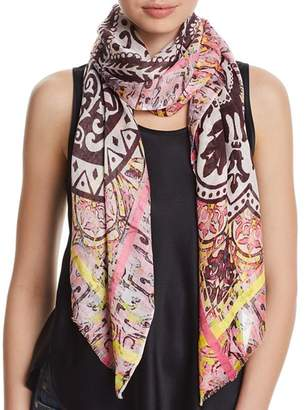 Fraas Medallion Border Oblong Scarf