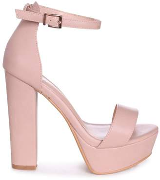 dce55d5ff06 Barely There Linzi VIRGINIA - Nude Nappa Extreme Platform Block Heel