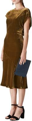 Whistles Mina Velvet Midi Dress
