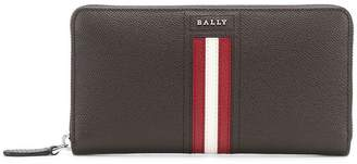Bally stripe detail long wallet