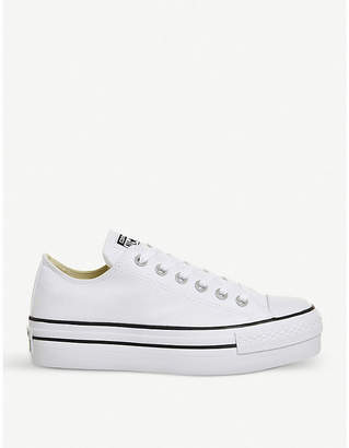 Converse flatform canvas trainers
