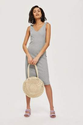 Topshop Petite Tie Shoulder Bodycon Dress