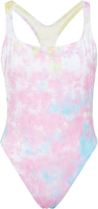 Solid & Striped + RE/DONE Tie-Dye One-Piece Swimsuit