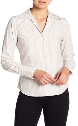 Modern American Designer Long Sleeve Stripe Blouse