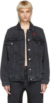 Stella McCartney Black Denim Star Patch Jacket
