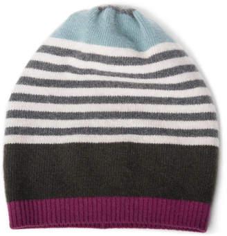 Portolano Cashmere Multi-Stripe Hat