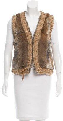Mackage Fur Leather-Trimmed Vest $195 thestylecure.com