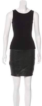 Bailey 44 Faux-Leather Sleeveless Dress